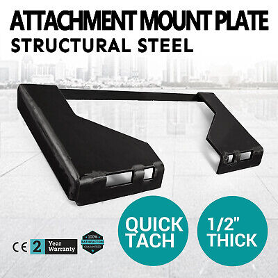 12 Quick Tach Attachment Mount Plate Skid Steer Adapter Bobcat Skid Steer