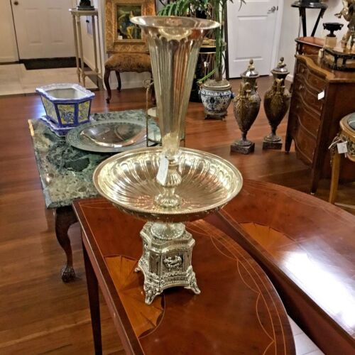 Epergne European Style Silver Plate