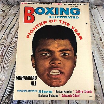 Boxing Illustrated Wrestling News Magazine Vintage Mar 1971 Muhammad Ali