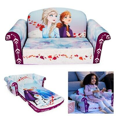 Children's Flip Open Foam Sofa Frozen 2 Girls Toddler Kids Bedroom Furniture  Childrens Foam Chair