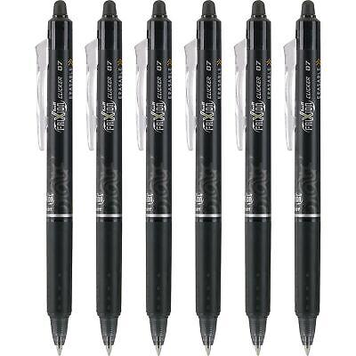 Pilot Frixion Clicker Retractable Erasable Gel Pens Fine Point Black 6 Pack