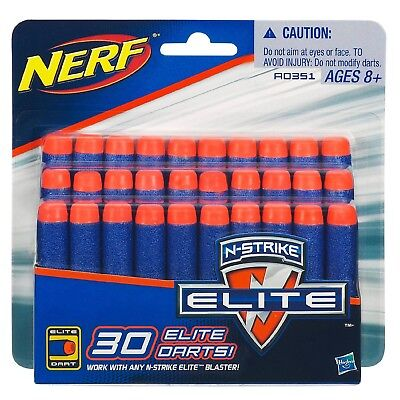 Nerf N-Strike Clip System Darts - 30-Pack Brand New~