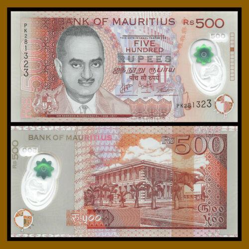 Mauritius 500 Rupees, 2017 P-66c Polymer Unc