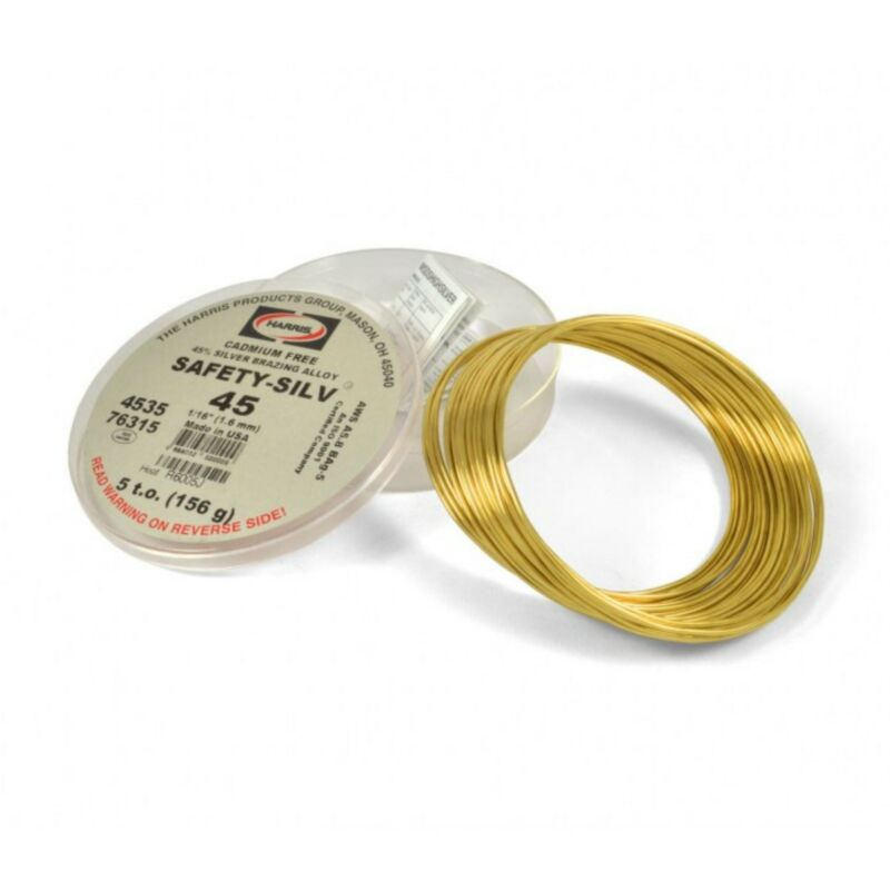 Harris 4535 Safety Silv 45 45% Silver Brazing Alloy 5 Troy Ounce