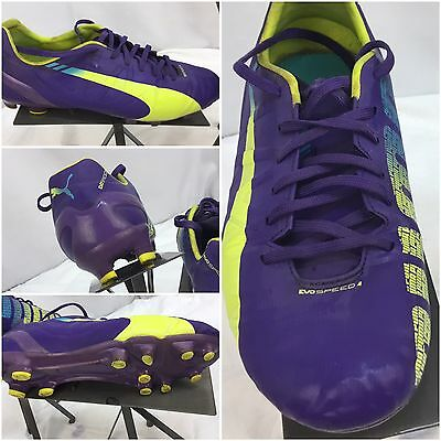 Puma Evo Speed 4 Soccer Cleats FG Sz 8.5 Men Purple EUC C7-114 2a8bf5a089