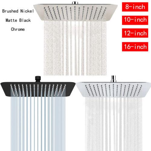 Luxury Rain Shower Head Stainless Steel Rainfall Showerhead Sprayer Ultra Thin