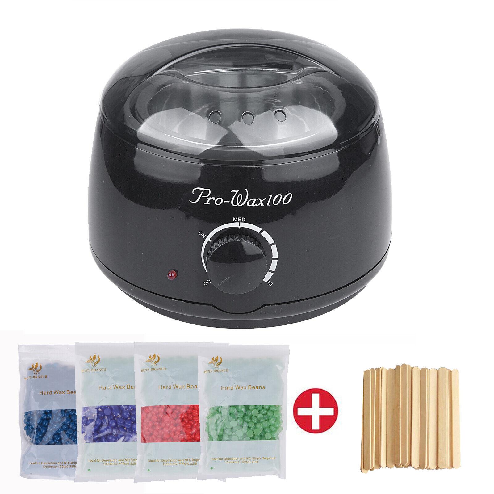 Wachsgerät Set Wachswärmer Wachs Erhitzer+ Wachs Bohnen Haarentfernung Wax NEU