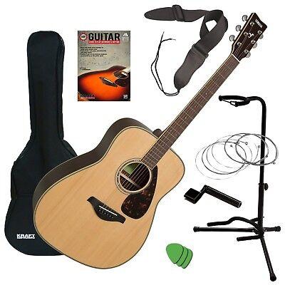 Yamaha FG830 Acoustic Guitar - Natural GUITAR ESSENTIALS BUNDLE