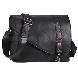 Umhängetasche Leder Herren PRIDE+SOUL Damen Messenger Tasche Ledertasche schwarz