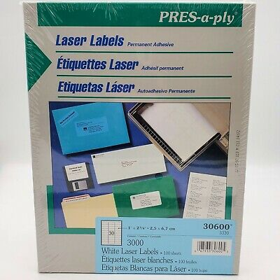 Press-a-ply Laser Labels Shipping Address Labels Same Size As Avery 5160 New
