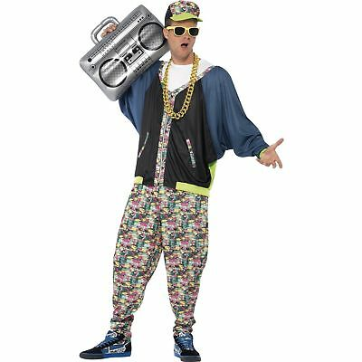 80's Hip Hop Rap Rapper MC Hammer Vanilla Ice Mens Fancy Dress Costume - 80 Hip Hop Clothes