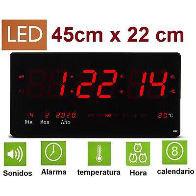 Reloj de Pared y mesa Digital Oficina Temperatura Calendario alarma 220V -32208-