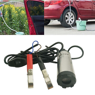 12v Dc Fuel Water Diesel Transfer Pump Filter Submersible Clip On Battery