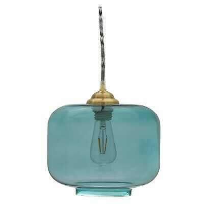 Teal Glass Pendant Light by Drew Barrymore Flower Home ()
