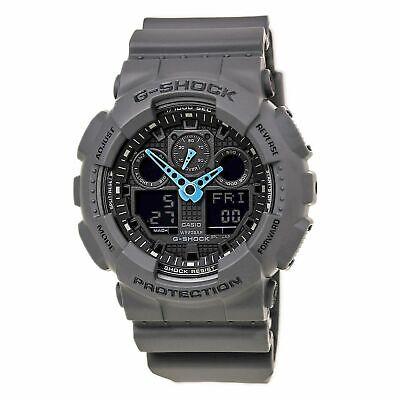 NEW Casio G-Shock GA-100C-8A Grey Digital Dial Resin Men's Watch Free Shipping