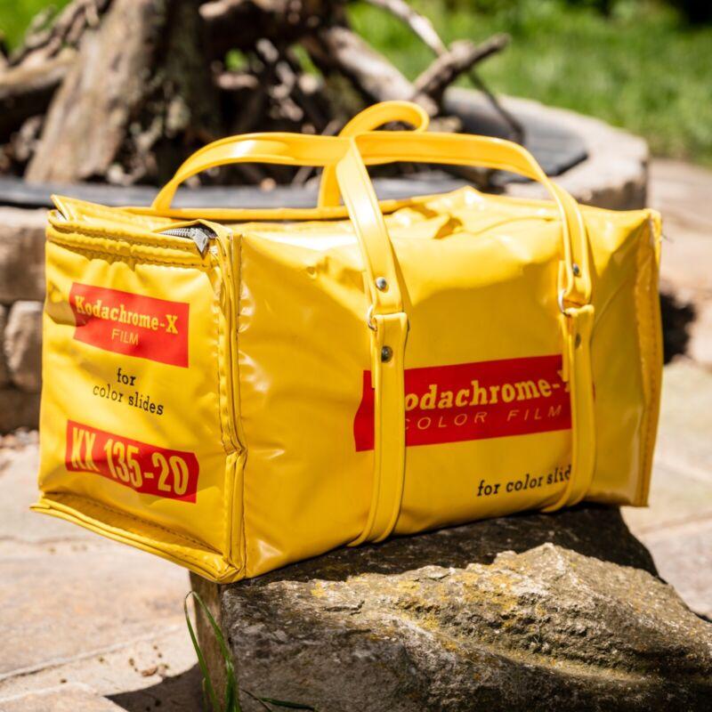 Kodak Kodachrome- X Film 135-20 Yellow Nappy Insulated Cooler BagVintage 60
