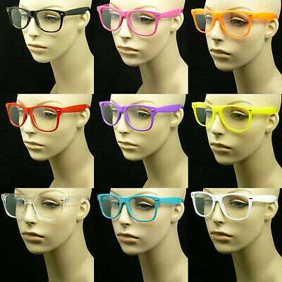 Clear glasses lens men women nerd geek fake eye wear unisex hipster frame (Fake Glasses For Women)