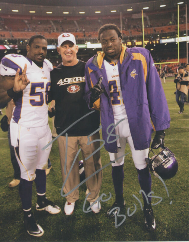 Tyrone McKenzie *MINNESOTA VIKINGS* Signed 8x10 Photo COA GFA