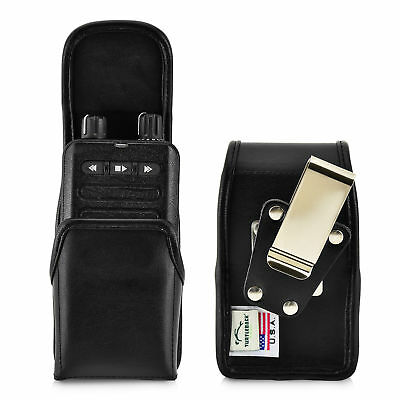 Minitor VI (6) Voice Pager Fire Radio Leather Pouch Holster Metal Belt Clip Voice Pager