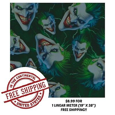 Hydrographic Water Transfer Hydro Dip Green Joker Film 1m 19 X 38