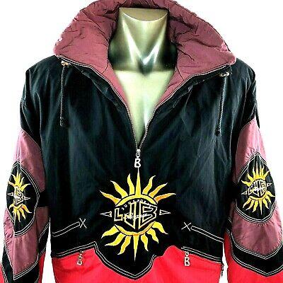 Vintage Bogner Mens Med SKI Pullover Jacket Winter Coat Color Block - Bogner Winter Coat