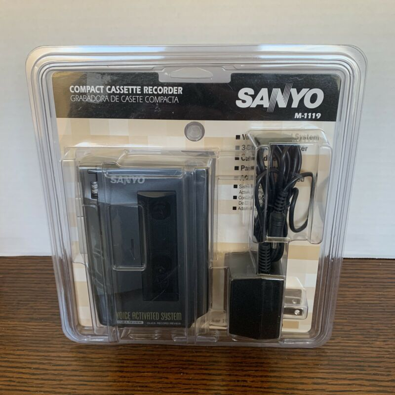 New Sealed Sanyo M1119 Handheld Std Compact Cassette Voice Recorder ~ Fast 🚛