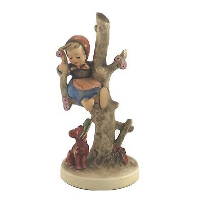 """Goebel Hummel """"Out of Danger"""" 56/B Girl up Tree with Dog 6.25 inches Mint!"""