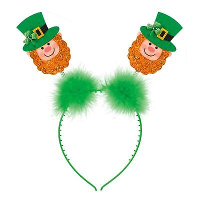 St Patricks Tag Glitzer Kobold Stirnband Warnung Bopper-Hut Party Accessoire ()