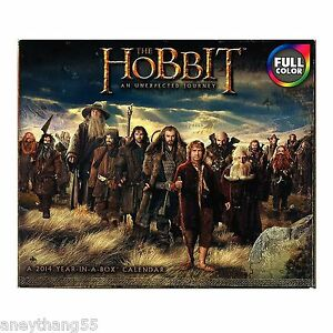 The-Hobbit-An-Unexpected-Journey-2014-Year-In-A-Box-Calendar-NEW-LOTR