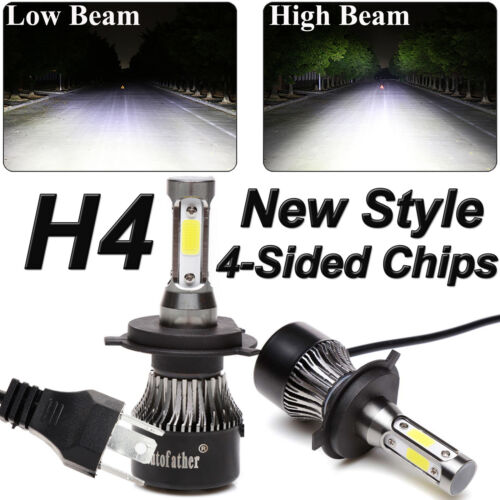 Car Parts - 2019 New 4-Side H4 LED Headlight Car Bulbs 300W 36000LM High And Low Beam Bright