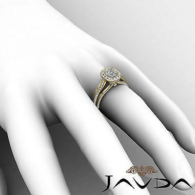 Cushion Diamond Halo Engagement GIA F VVS2 18k Yellow Gold Milgrain Ring 1.61Ct 6