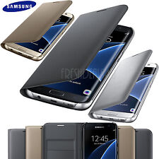 NEW SAMSUNG GALAXY S8 S7 EDGE PHONE LEATHER WALLET FLIP CASE COVER WITH SCREEN