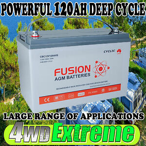 12V 120AH DEEP CYCLE AGM BATTERY ,SOLAR, DUAL SYSTEM,CARAVAN 4WD CBC12V120AHS