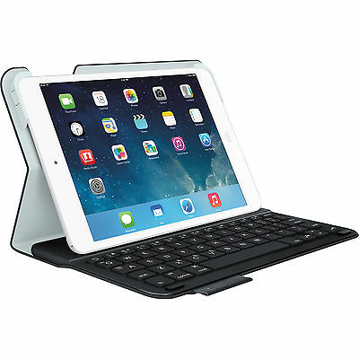 Logitech Wireless Ultrathin Keyboard Folio Case for iPad Mini 3 2 1 Retina Black