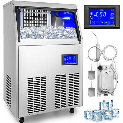 Ice Cube Maker Machine 50kg110lbs Commercial Water Filter R134a 50kg24h