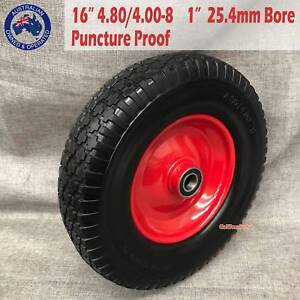 16'' 1'' Bore Solid Rubber Wheel Barrow Cart Tyre Puncture Proof Epping Whittlesea Area Preview