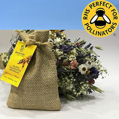 Bee Bombs Native Wildflower Seed Balls 18 Flower Varieties RHS in Hessian Sack