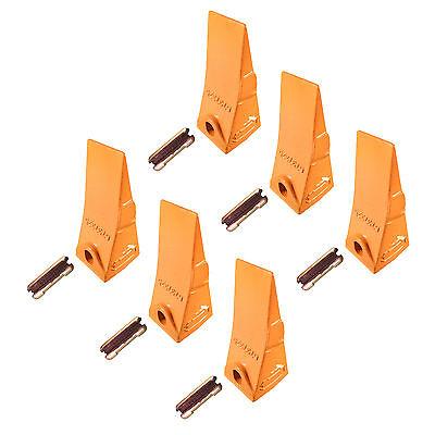 6 - Bobcat Style Mini Excavator Skid Steer Bucket Teeth W Pins - 6737325