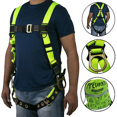 Safety Harness 3d Ring Grommets Fall Protection Full Body Ansi Osha Ul Jorestech