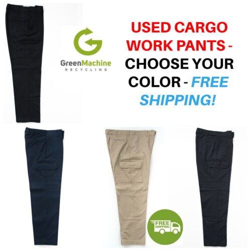 Used Uniform Work Pants Cargo Cintas Redkap Unifirst G&k Dickies Etc Free Ship