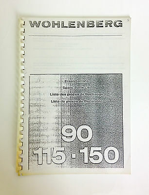 Wohlenberg Spare Parts List Book 90115150 Programmatic