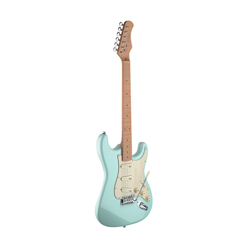 Stagg SES50M-SNB Electric Guitar, Alder Body, Sonic Blue