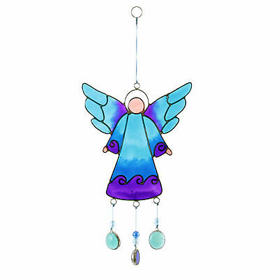 Sun Catcher Blue Hanging Angel With Nuggets Shabby Chic Home Gift