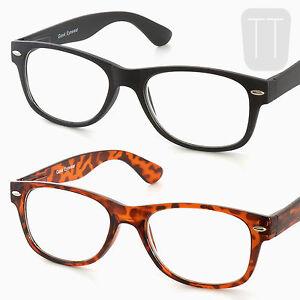 3-Pares-De-Borde-Retro-Gafas-lectura-Negro-t-039-s-HELL-1-0-1-5-2-2-50-3-00