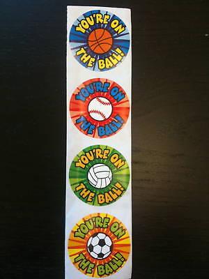 500 Sport Stickers Teacher Supply Baseball Soccer camp party favor basketball