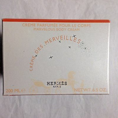HERMES Creme Des Merveilles Marvelous Body Cream 6.5oz New in Box Hermes Body Cream