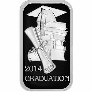 2014 Graduation Cap And Diploma 1oz 999 Fine Silver