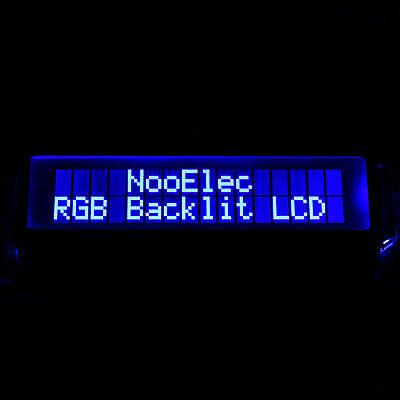 16x2 Character Lcd 5v Rgb Backlight Negative Mode Rgb On Black 2x16 Row Usa