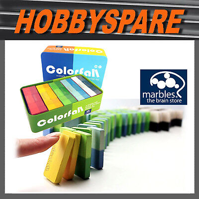 NEW MARBLES THE BRAIN STORE COLORFALL COLOUR DOMINOES SET PARTY GROUP GAME