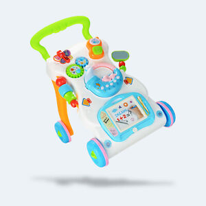 2 in 1 Baby Walker First Steps Activity Bouncer Musical Toys Car Push Along Tool